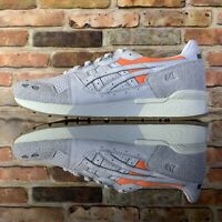 ASICS GEL-Lyte Sneakers Casual White orange Mens US 10.5 Men (H80NK-0101)