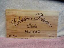 2012 CHATEAU POTENSAO DELON MEDOC WOOD WINE PANEL END