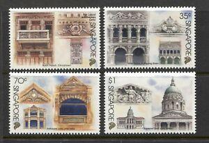 SINGAPORE 1996, ARCHITECTURE STILES, Scott 743-746, MNH