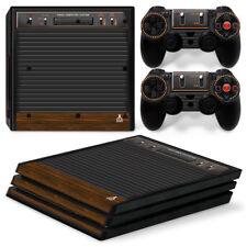 PS4 Pro Playstation 4 Console Skin Decal Sticker Old Atari Retro Custom Design
