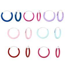 Small 10mm Ear Hoop Hypoallergenic 925 Sterling Silver Stud Earrings For Kids