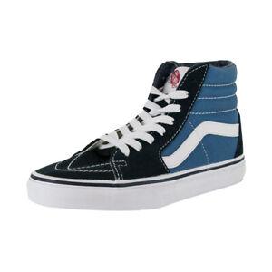 "Vans ""Sk8-Hi"" Sneakers (Navy) Men's Canvas Suede Skateboard High-Top Shoes"