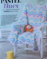 KNITTING PATTERN Baby Wave Patterned Blanket Striped Throw King Cole PATTERN