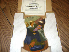 """NORMAN ROCKWELL PLATE (NIB) """"CRADLE OF LOVE"""" 1980 FIRST ISSUE MOTHER'S DAY PLATE"""
