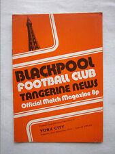 Orig.PRG   England  2.Division 1974/75   BLACKPOOL FC - YORK CITY FC  !!