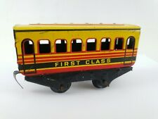 More details for vintage brimtoy  tin-plate model first class , fisrt version 4 wheel coach