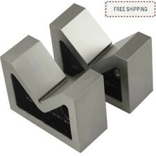 "CAST IRON VEE BLOCK 2"" V BLOCK SET OF 2 Pcs (WITHOUT CLAMP)"
