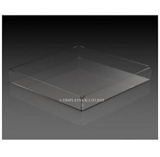 Clear Perspex Acrylic Square Tray Container - 70mm x 300mm x 300mm