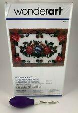 "Wonder Art Elegant Roses Floral Latch Hook Rug Kit W/ Latch Hook 24"" x 34"""