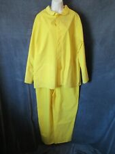 Vintage Diamond Rubber Products Yellow Polyvinyl Overalls Rain Jacket Slicker M