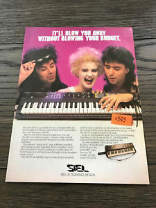 1986 VINTAGE 8X11 PRINT AD FOR SIEL DK-70 SYNTHESIZER 80s HAIR BAND