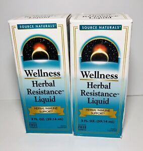 2PK Wellness Herbal Resistance Liquid Immune Support Supplement 2oz Ea, Exp 4/24