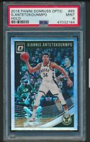 2018-19 Panini Donruss Optic HOLO Giannis Antetokounmpo #85 PSA 9 MINT RARE MVP