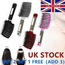 Women Bristle Massage Comb Nylon Brush Hair Detangle Scalp Hairbrush Tools Salon