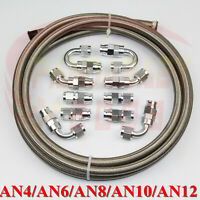 4AN 6AN 8AN 10AN 12AN PTFE teflon e85 oil hose end fitting adapter kit 10FEET