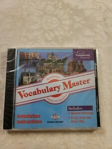 Vocabulary Master Transparent Language Learning Software 13 Languages PC CD-ROM