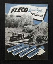 """CATERPILLAR """"Fleco Specialized Products"""" ROCK STUMP BRUSH LAND CLEARING BROCHURE"""