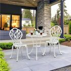 Bistro Set 3 Piece Garden Furniture Set Patio Outdoor Dining Table And Chairs