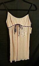 Women's  Inner Secrets Pink Polka Dot  Dress  SZ S Lingerie Sleepwear