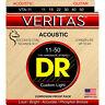DR VTA-11 Veritas Phosphor Bronze Acoustic Guitar Strings Custom Light Set 11-50