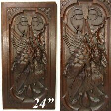 "Antique Black Forest Style Carved Oak 24"" Panel, Hunt Theme, Furniture, Cabinet"