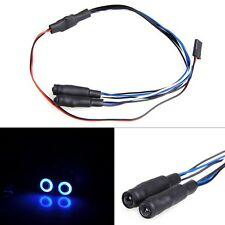 5mm Angel & Demon Eyes 2Leds LED Headlight Back Light For 1/10 RC Car Blue+White