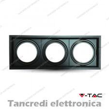 Portafaretto orientabile per 3 lampadine AR111 V-TAC VT-7223 nero 475 x 175 mm