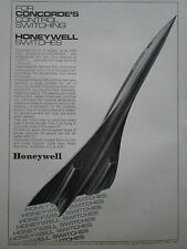 5/1967 PUB HONEYWELL AIRCRAFT CONCORDE AIRLINER CONTROL SWITCHING SWITCHES AD