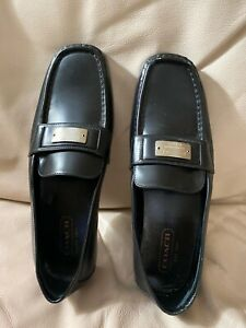 Coach Black Leather Lora Loafer Shoes Size 7 1/2 M