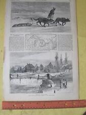Vintage Print,SAULT ST.MARIE,Canal,Harpers,Feb1873
