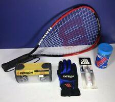 Racquetball Starter Kit Wilson Fire XT Racquet New Balls Ektelon Glove & Eyewear