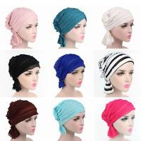 Women Cotton chiffon Scarf Hair Loss Head Cancer Chemo Hat Cap Turban Head Wrap