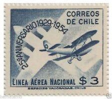 Chile 1954 #538 25º Aniversario Linea Aerea Nacional MNH
