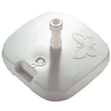 Schirmständer, weiß, Ø 18-32 mm, füllbar 26 kg, Griff, Sonnenschirmständer