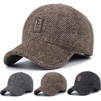 Men Baseball Cap Casual Outdoor Hat Earflap Earmuffs Warm Sport Casual Fashion