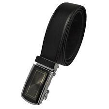 Automatikgürtel Gürtel bis 160 cm Herren Gürtel 3,5 cm mit Schnalle schwarz