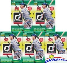 (5)2018 Donruss Baseball EXCLUSIVE Sealed Blaster Box-HOLO BLUE+CRYSTAL PARALLEL