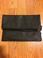 NEW!!! Victoria's Secret Angel Wings Fold Over BLACK Clutch Wallet Cosmetic Bag