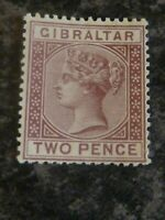 GIBRALTAR POSTAGE STAMP SG10 TWO PENCE UN-MOUNTED MINT