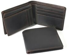 URBANBOGAN Men's Oliver Brown Executive Authentic Indian Cow Leather Wallet