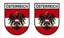 2 Stück Wappen Aufkleber Österreich Austria Sticker konturgestanzt Nr. 2449