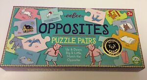 eeBoo Opposites Puzzle Pairs Matching Game Puzzle Best Toy Award