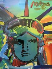 PETER MAX - LIBERTY VI ORIGINAL ACRYLIC PAINTING - PARK WEST COA