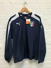 PUMA Italy Football Men's Retro Windbreaker Top - Navy - New