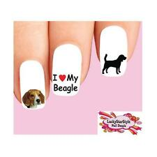 Waterslide Dog Nail Decals Set of 20 - Beagle Assorted