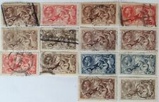 Collection of 14 x George V Seahorse Stamps.