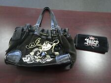 Juicy Couture Black Shoulder Bag + Black Wallet