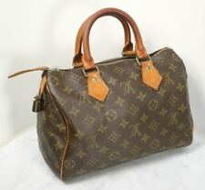 Genuine LOUIS VUITTON Speedy 25 Satchel Bag. Classic Monogram Design with Lock