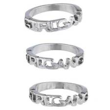Lux Accessories Silvertone Girl Gang BFF Best Friend Forever Trendy Ring Set 3PC