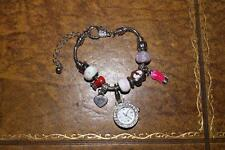 **NEW  LADIES BRACELET  WATCH WITH CHARMS  **